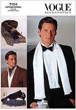 Vogue 7104 - Patrones de Costura para Confeccionar Accesorios de Hombre (Varios Modelos, Instrucciones en inglés y alemán)