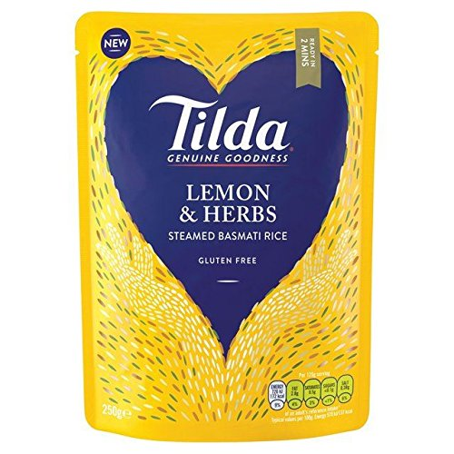 Tilda Steamed Basmati Lemon & Herb - 250g (0.55lbs)