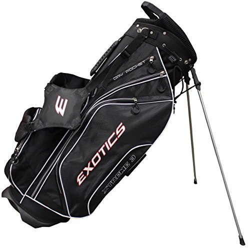 Tour Edge Men's Exotics Xtreme3 Stand Bag, Black ()