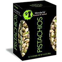 Wonderful Pistachios Multipack Box of 9 Roasted and Salted 1.5oz Bags