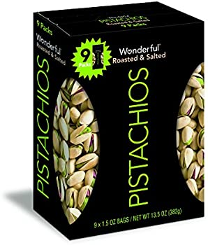 9-Pack Wonderful Roasted and Salted Pistachios 1.5-oz.