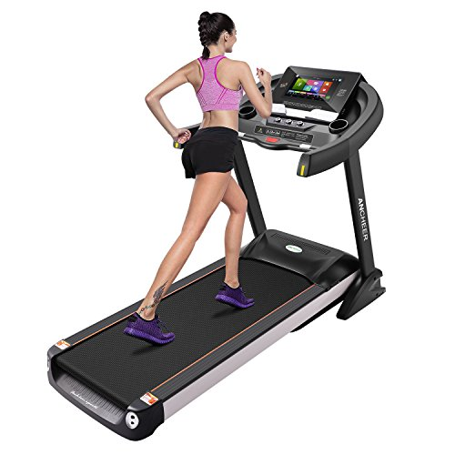 Home Gym Treadmill 15.6 inch WIFI Color Touch Screen Folding Electric Treadmill Running Machine W5208 (Color Touch Screen)