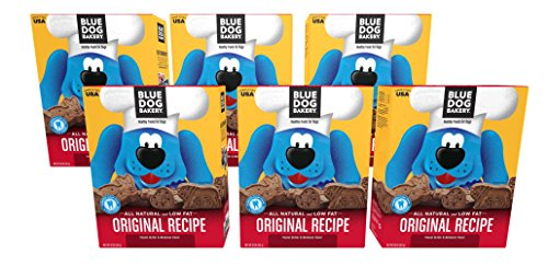 (Blue Dog Bakery | Dog Treats | All-Natural | Peanut Butter & Molasses (Pack of 6))