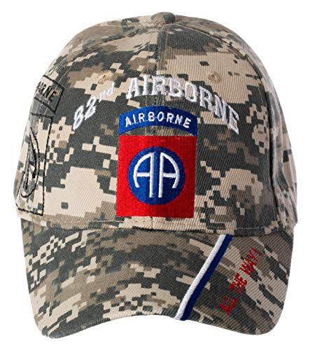 Artisan Owl Officially Licensed US Army 82nd Airborne Division All The Way! Embroidered Adjustable Baseball Cap (Digital Camo) ()