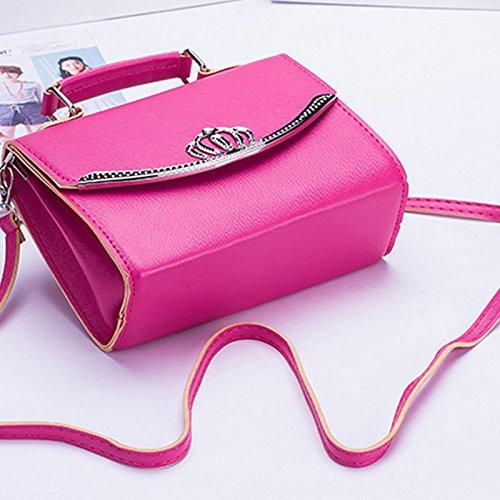 Messager de mode Sac Femme d'épaule de dangers populaire pain rose de de couronne de Mini nouvelle Lindo dangers des femmes Sac espeedy H8wSF4q4