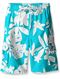 Boys' Voyage Floral Swim Trunk