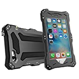 iPhone SE case,iphone 5s case Feitenn Water resistant Rain Proof Shockproof Dust Proof Armor Aluminum Metal bumper Gorilla Glass Military Heavy Protection Case for Iphone 5S SE(Black)