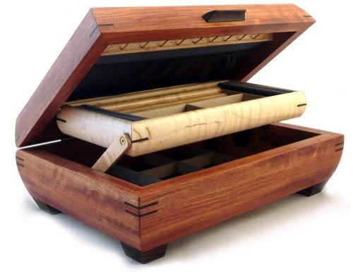 Birdseye Maple Jewelry Box - Handmade Bubinga & Maple Wood Jewelry Box