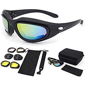 Polarized Sunglasses, Bulletproof CS, Tactical Goggles, Field Motorcycle,Windproof Mirror ,Fit For Male or Female Black