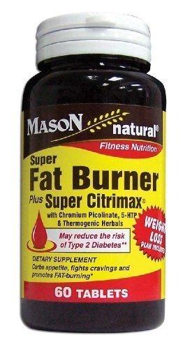 Mason Natural Super Fat Burner Plus Super Citrimax Tablets, 60 Count (3 pack) by Mason ()
