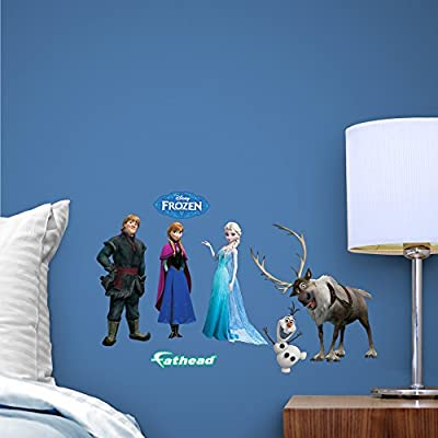 "Fathead Disney Frozen ""Team Set Anna, Elsa and Olaf"" Fathead Teammate Wall Decor"