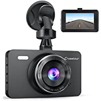 Dash Cam, Crosstour 1080P Car DVR Dashboard Camera Full...