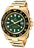 Rolex Men's Master II Automatic GMT Green Dial Oyster 18k Gold