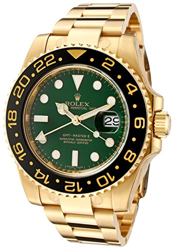 Rolex Men's Master II Automatic GMT Green Dial Oyster 18k Solid ()
