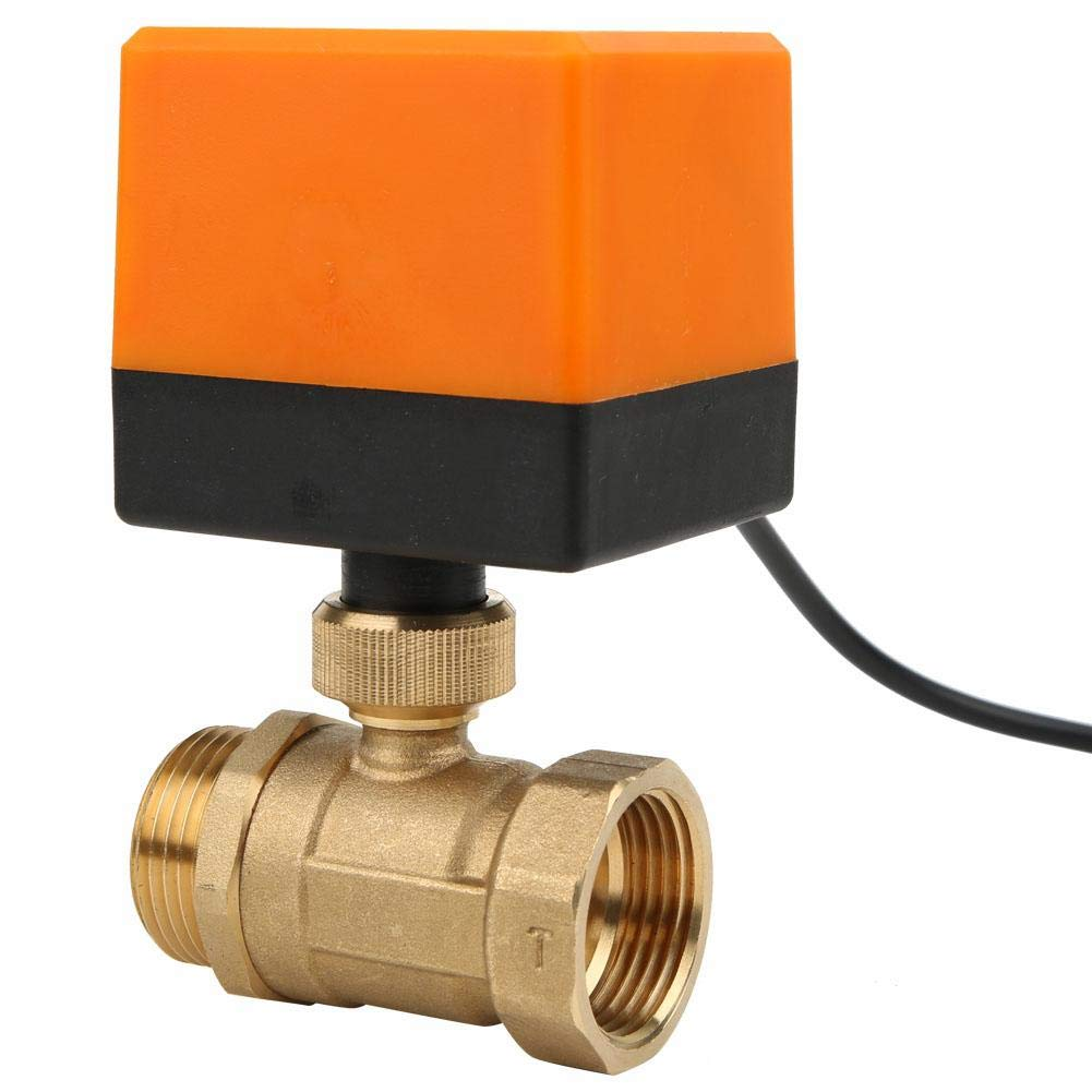 G1 Motorized Ball Valve,AC 220V Electrical Ball Valve,90/° Rotate 3-Wire 2-Point Control Female Male Thread Motorized Ball Valve.