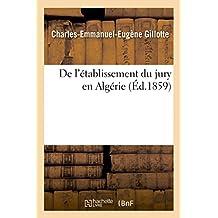 de L'Etablissement Du Jury En Algerie