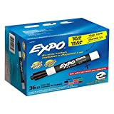 EXPO Low-Odor Dry Erase Markers, Chisel Tip, Assorted Colors, 36 Pack