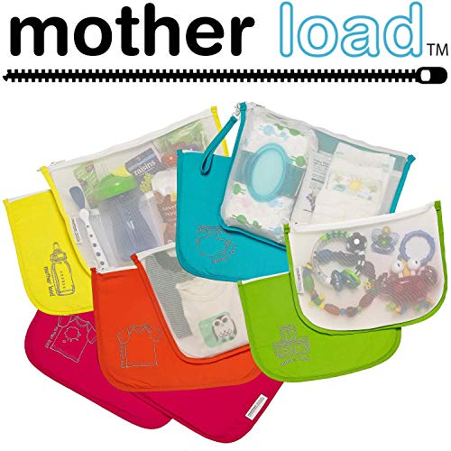 Diaper Bag Organizer Pouches by MOTHER LOAD a 5-pc Set for D