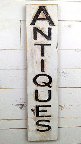 Sign Distressed (Antiques Vertical Sign - 43