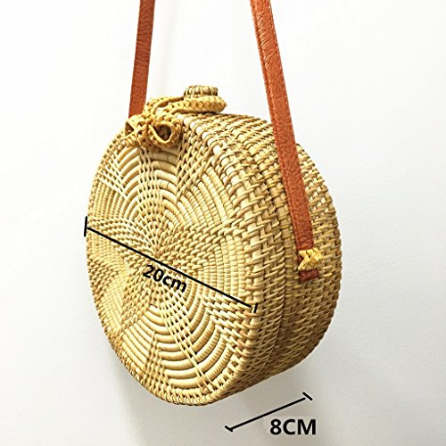 Kachi Women Beach ACMEDE Summer Crossbody Sunflower Bag Rattan Woven Color Bag Shoulder Bag RPwqCP