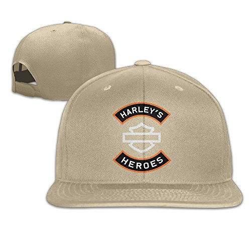 MaNeg Harley Logo Unisex Fashion Cool Adjustable Snapback Baseball Cap Hat One Size - Boston Prada Store