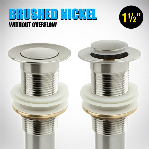 """GotHobby Bathroom Faucet Vessel Sink Pop Up Drain Stopper Brushed Nickel 1 1/2"""" without Overflow lovely"""