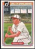 Baseball MLB 1983 Donruss Hall of Fame Heroes #10 Johnny Mize NM-MT Cardinals