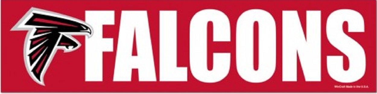 Wincraft NFL Atlanta Falcons WCR13393013 Bumper Strip, 3'' x 12''