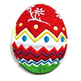 Easter001 - 2 Pcs of Easter Iron On Patches - Animal Patches - Applique Embroidered Patches - Iron on Patches - Backpack Patches - Size 5 X 6.5 Cm./Pcs by Asian 108 Markets
