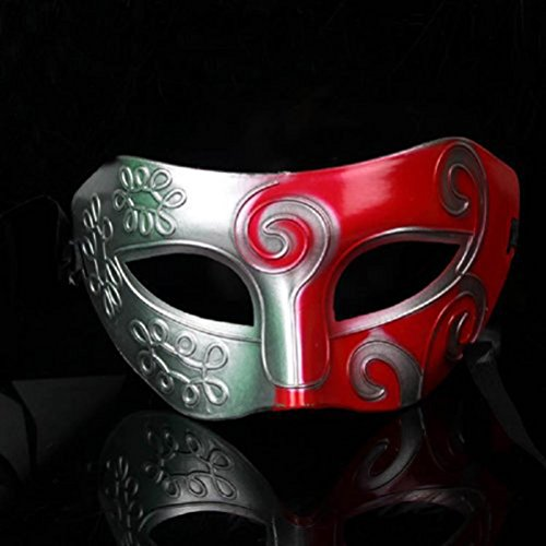 Mens Halloween Masks (Tinksky Halloween Costumes - Men Masquerade Mask for Party Fancy Dress Ball)
