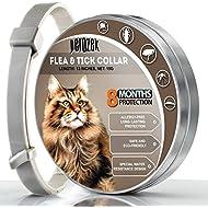 PEROZEK Cats Flea And Tick Collar - 8-Month Flea Treatment Cat Collar - Hypoallergenic, Adjustable & Waterproof Tick Prevention - Natural Essential Oil Extracts