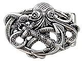 anchor buckle belt - Punk Pirate Octopus Kraken Boat Anchor Antique Silver Belt Buckle