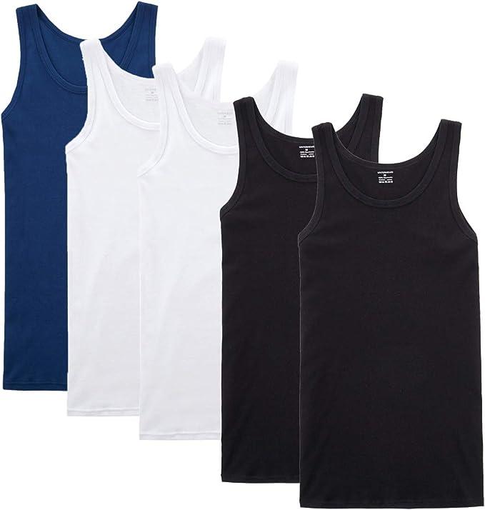 YOUCHAN Camiseta de Tirantes para Hombre Pack de 5 de Algodón 100 ...