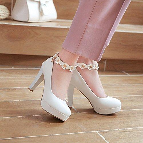Zapatos KHSKX Zapatos Mujer De Tacon Sexy De MujerTreinta Y Alto De Zapatos NueveBlanco De Zapatos Mujer PUqH1UnX