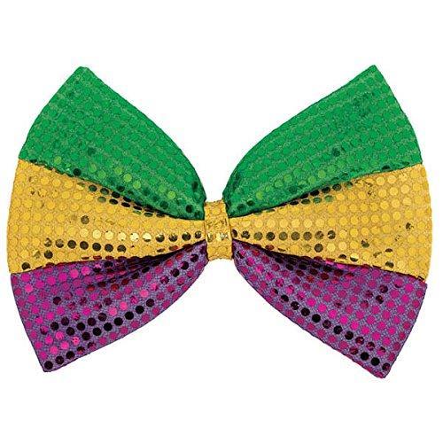 Mardi Gras Party Sequin Bow Ties, 8