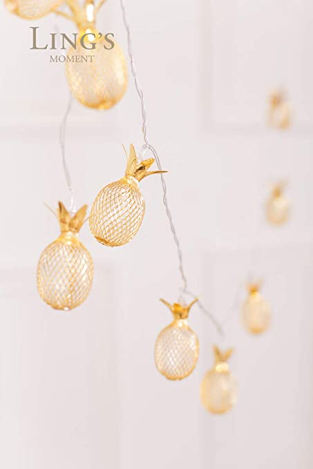 Home & Garden Pineapple String Light 10 Leds Party Supplies Decorations Battery Operated Romantic Wedding Party Decor Mesh Pineapple Light