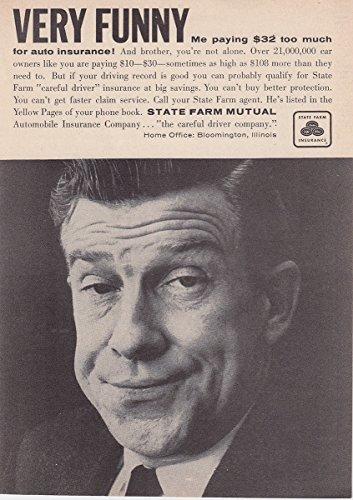 1958 State Farm Insurance  Very Funny  State Farm Insurance Print Ad