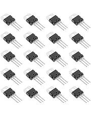 Bridgold 20pcs TIP120 TO-220 NPN Darlington Bipolar Power Transistor, 5A 60V HFE:1000, 3-Pin