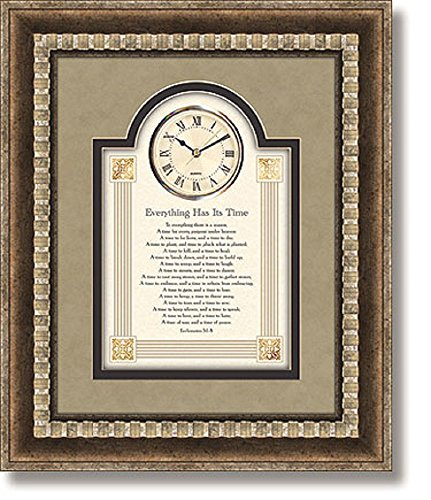 Everything Has Its Time - Wall Clock, 15'' W x 18'' H. by AT001