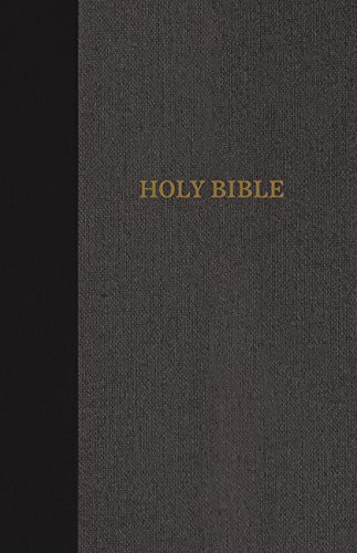 KJV, Thinline Bible, Large Print, Cloth over Board, Black/Gray, Red Letter Edition, Comfort Print ebook