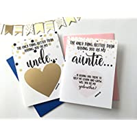 Will You Be My Godmother and Godfather Scratch Off Card, Set of 2