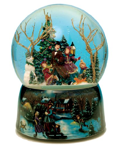 MusicBox Kingdom 48041 Ice Skater Snow Globe Music Box, T...