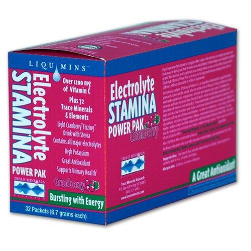 Minéraux Trace Research électrolyte Endurance Power Pak Cranberry, 32-Count Boîtes