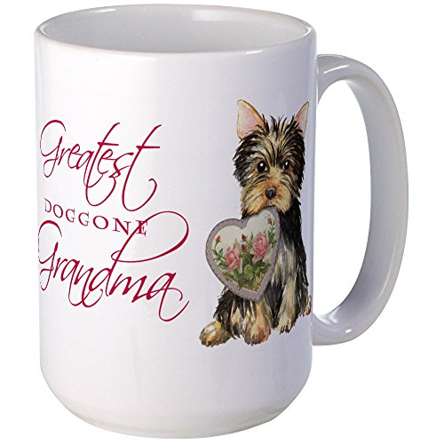 CafePress - Yorkie Grandma Mugs - Coffee Mug, Large 15 oz. White Coffee Cup