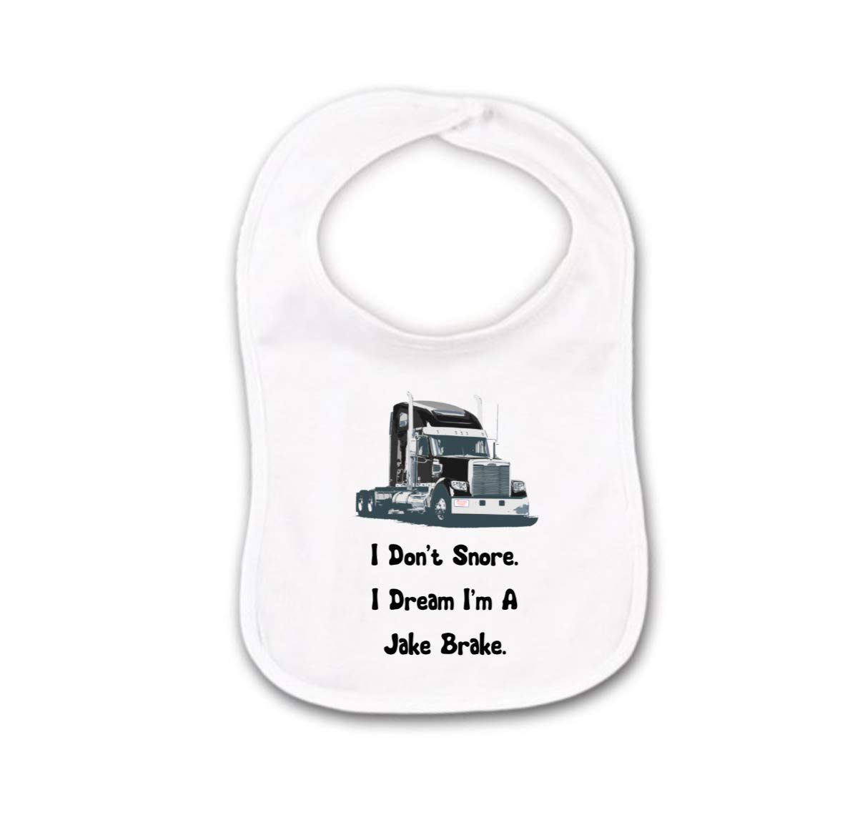 Semi Truck Driver Baby Bib or Burp Cloth For Daddys 18 Eighteen Wheeler Buddy Jake Break