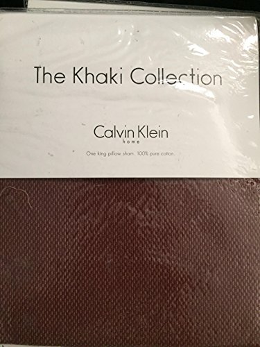 New The Khaki Collection Calvin Klein Texture-Nickeline King Sham