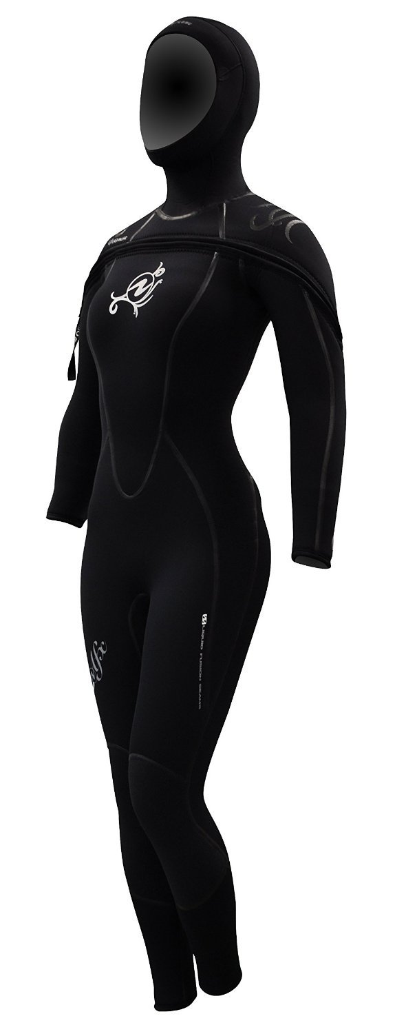 AquaLung SolAfx 8mm Women's Wetsuit, Black Discontinued (8L Size)