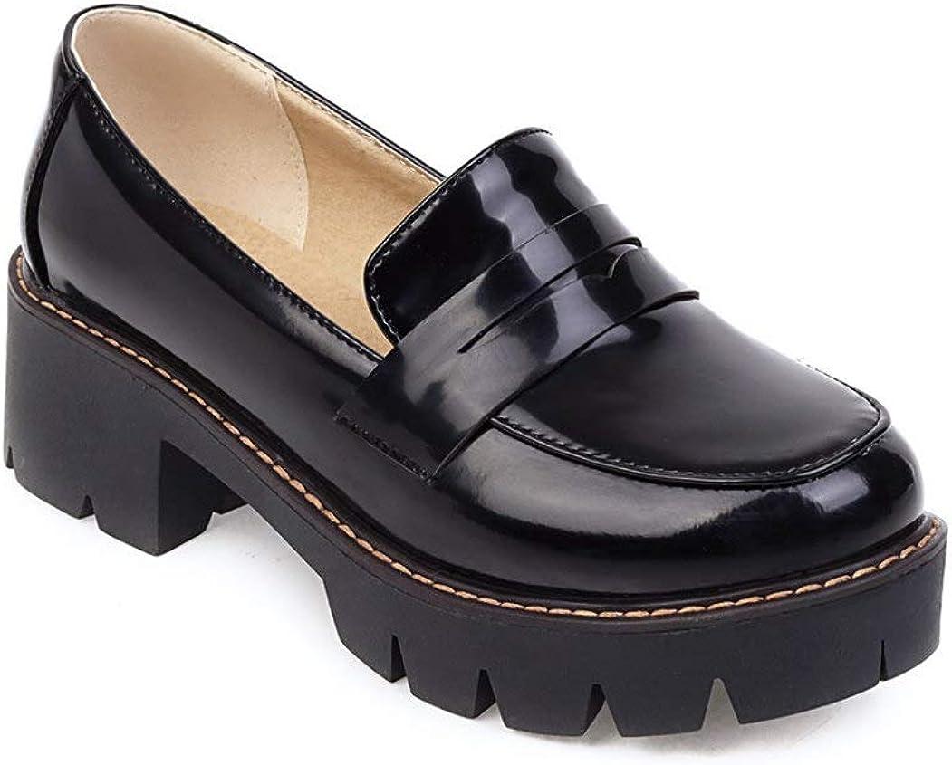 Women's Classic Platform Chunky Heel