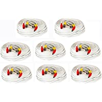 GW Security VD150CAW 8 Pack 150-Feet All-In-One Siamese CCTV Security Camera BNC Video and Power Cable for Surveillance System, 8-Pack (White)