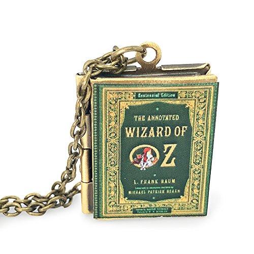'Wizard of Oz' Book Locket Necklace (Bronze-Tone)